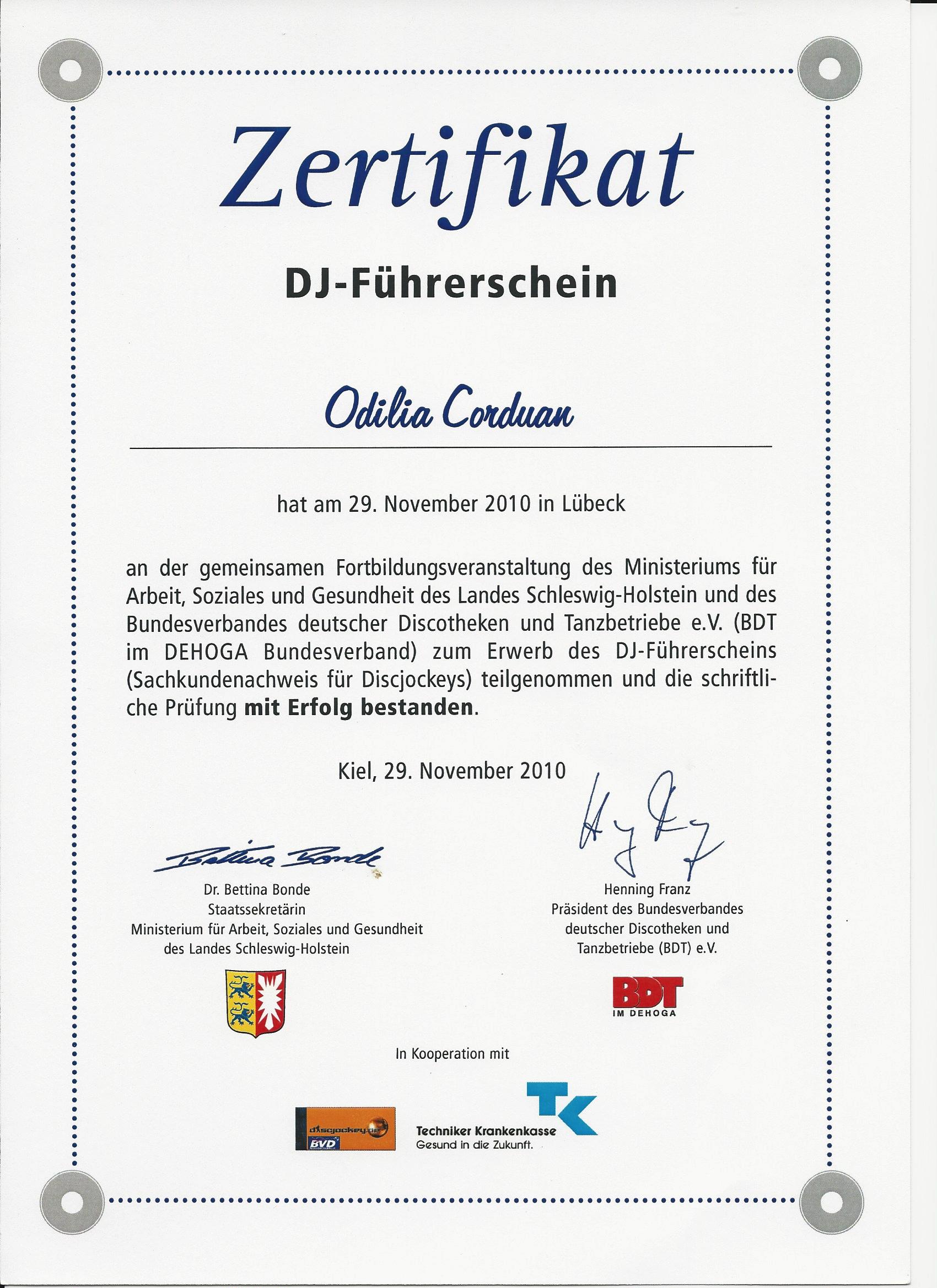 Fortbildung für DJs - Sachkundenachweis für Discjockeys.