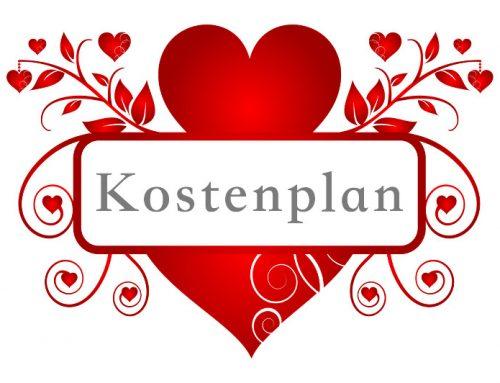 Kostenplan – Hochzeit